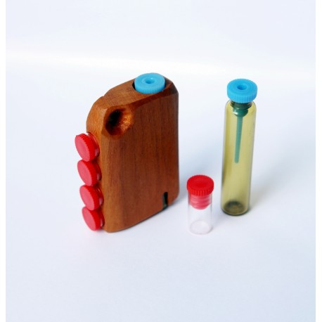 Key fob with 5 vials for 5 remedies, one removable